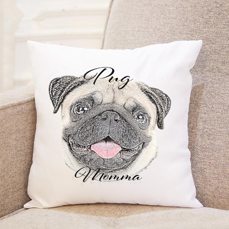 Dog Momma Pillow Case  - Pug