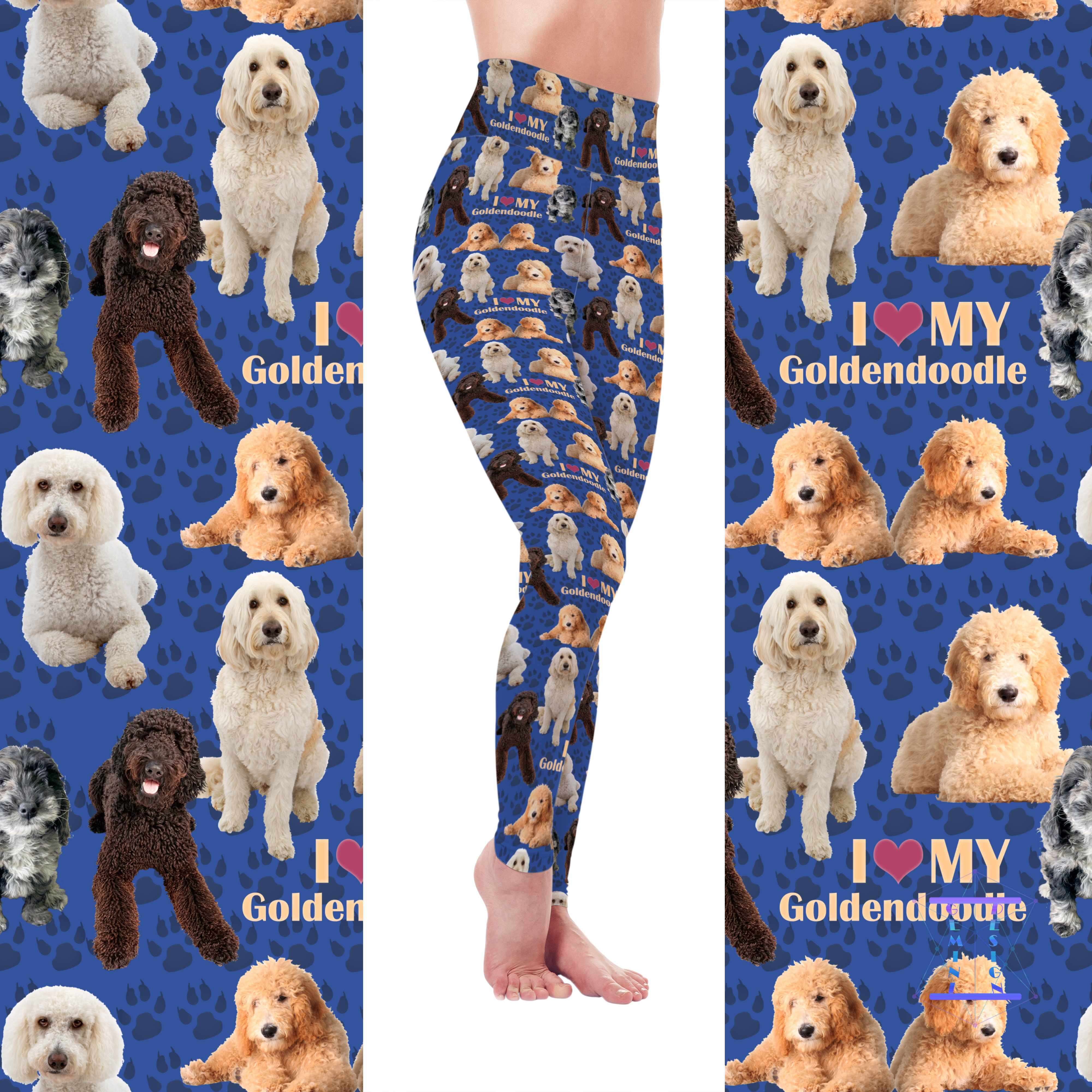 Dog Mom Series - Goldendoodle Leggings