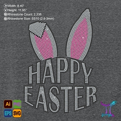 Happy Easter Rhinestone Design File
