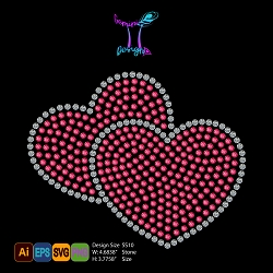 Hearts Rhinestone Design File