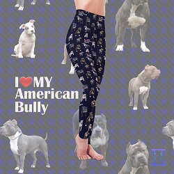 Dog Mom Series - American Bully Leggings