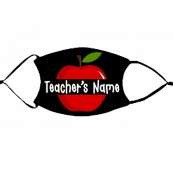 Teacher's Apple with name- non-medical face mask