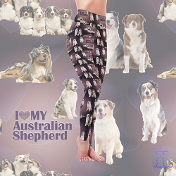 Dog Mom Series - Australian Shepherd Leggings