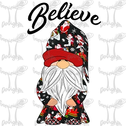 Believe in Santa Gnome Design