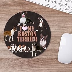 Designer Mouse Pads - Boston Terrier