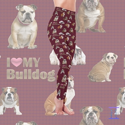 Dog Mom Series - Bulldog Leggings