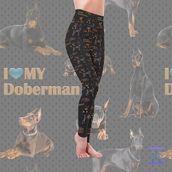 Dog Mom Series - Doberman Leggings