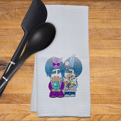 Easter Gnomes Kitchen Towel