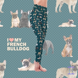Dog Mom Series - French Bulldog Leggings