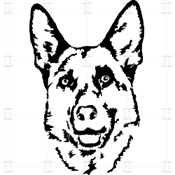 German Shepherd Digital Cutfile