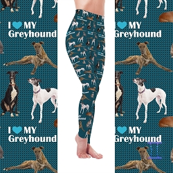 Dog Mom Series - Greyhound Leggings