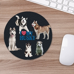Husky Mouse Mouse Pad