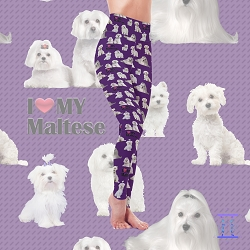 Dog Mom Series - Maltese Leggings