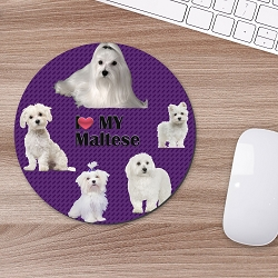 Maltese Mouse Mouse Pad