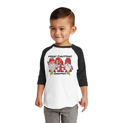 Merry Christmas Gnomies Toddler Raglan