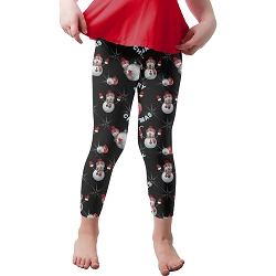 Merry Snowmen Youth Leggings