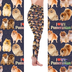 Dog Mom Series - Pomeranian Leggings