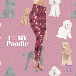 Dog Mom Series - Poodle Leggings