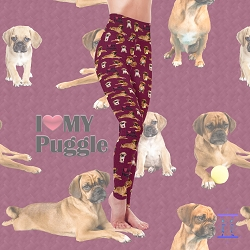 Dog Mom Series - Puggle Leggings