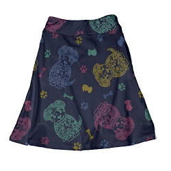 Tiara Skirt - Puppy Doodles Youth Skirt with Pockets