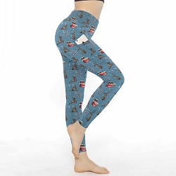 Silly Reindeer Leggings w/Pocket