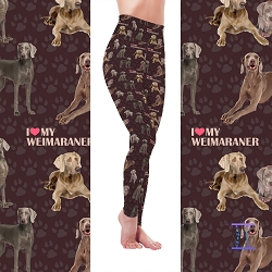 Dog Mom Series - Weimaraner Leggings