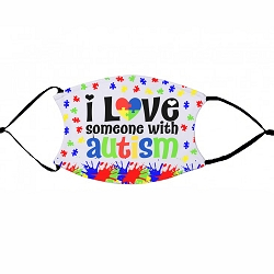 Love Someone with Autism - Non-Medical Face Mask (L)