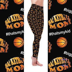 Biggest Fan Sports Mom - Basketball Leggings