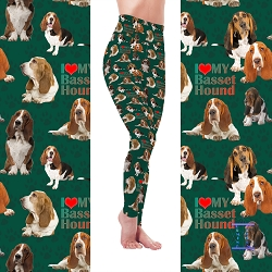 Dog Mom Series - Basset Hound Leggings