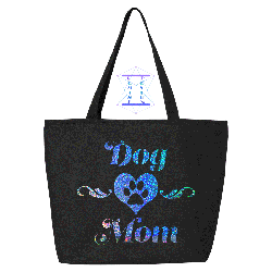 Tote - Dog Mom w/Holographic Decoration