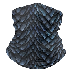 Blue Dragonscale Neck Gaiter with filter pocket