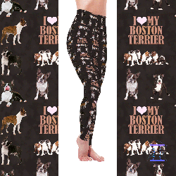 Dog Mom Series - Boston Terrier Leggings