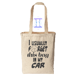 Grocery Tote w/Saying