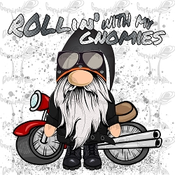 Rollin' with my Gnomies (Motorcycle) Artwork