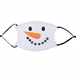 Snowman Face - non-medical face mask