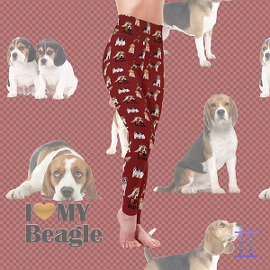 Dog Mom Series - Beagle Leggings