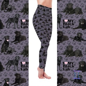Dog Mom Series - Black Lab Leggings