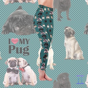 Dog Mom Series - Pug Leggings