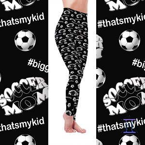 Biggest Fan Sports Mom - Soccer Leggings